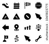 solid vector icon set  ... | Shutterstock .eps vector #1065823775