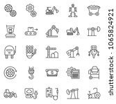 thin line icon set  ... | Shutterstock .eps vector #1065824921