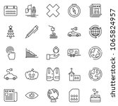 thin line icon set   around the ... | Shutterstock .eps vector #1065824957