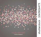simple romantic frame for text. ... | Shutterstock .eps vector #1065826475