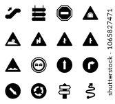 solid vector icon set  ... | Shutterstock .eps vector #1065827471