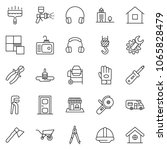 thin line icon set   office... | Shutterstock .eps vector #1065828479
