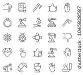 thin line icon set   tablet pc... | Shutterstock .eps vector #1065828587