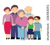 vector illustration of a family | Shutterstock .eps vector #106583051