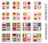 vector flags of the country.... | Shutterstock .eps vector #1065831317