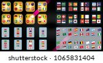vector flags of the country.... | Shutterstock .eps vector #1065831404