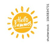 hello summer  isolated vector... | Shutterstock .eps vector #1065834731