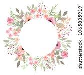 floral wreath. elegant floral... | Shutterstock . vector #1065835919