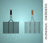 grill for grilling. lattice for ... | Shutterstock .eps vector #1065836531
