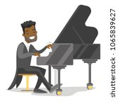 young african american musician ... | Shutterstock .eps vector #1065839627