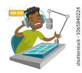 african american radio host... | Shutterstock .eps vector #1065840224