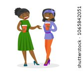 two young african american... | Shutterstock .eps vector #1065842051