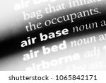 Small photo of air base word in a dictionary. air base concept.