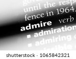 admire word in a dictionary.... | Shutterstock . vector #1065842321