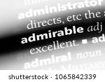 admirable word in a dictionary. ... | Shutterstock . vector #1065842339