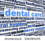 dental care message design.... | Shutterstock . vector #106584245