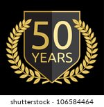 laurel wreath 50 years | Shutterstock .eps vector #106584464