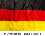 germany national flag with... | Shutterstock . vector #1065845045