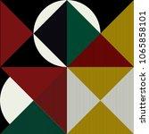 trendy minimalistic creative... | Shutterstock .eps vector #1065858101