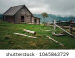Traditional Wooden Barns Slowl...