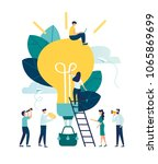 vector illustration  search for ... | Shutterstock .eps vector #1065869699