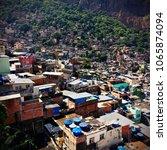 view of the favela rocinha  rio ...   Shutterstock . vector #1065874094