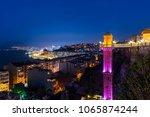the historical elevator in... | Shutterstock . vector #1065874244