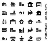 flat vector icon set   house... | Shutterstock .eps vector #1065875891