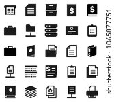 flat vector icon set   case... | Shutterstock .eps vector #1065877751