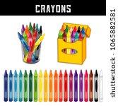 crayons collection  twenty... | Shutterstock .eps vector #1065882581