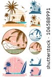 beach symbols  set of 3 beach... | Shutterstock .eps vector #106588991
