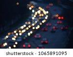 blurred traffic jam view. rush...   Shutterstock . vector #1065891095