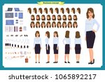 set of businesswoman character... | Shutterstock .eps vector #1065892217