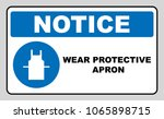 wear protective gloves  use... | Shutterstock . vector #1065898715