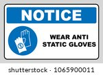 safety sign  hand protection... | Shutterstock . vector #1065900011
