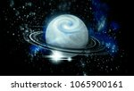 open space  planet and galaxies | Shutterstock . vector #1065900161