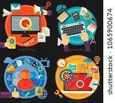 flat concept banners. analytics ... | Shutterstock .eps vector #1065900674