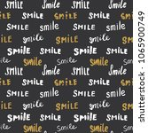 smile lettering seamless... | Shutterstock .eps vector #1065900749