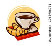 cup of coffee  tea and... | Shutterstock .eps vector #1065906791