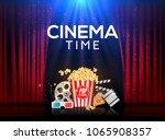 movie cinema premiere poster... | Shutterstock .eps vector #1065908357
