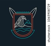 summer surf icon in modern line ... | Shutterstock .eps vector #1065908729