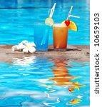 cocktails near the swimming...