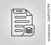psd file fromat icon