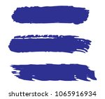 collection of hand drawn blue... | Shutterstock .eps vector #1065916934