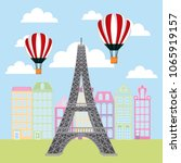 france paris card   Shutterstock .eps vector #1065919157