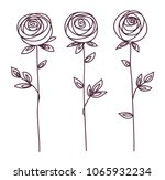 rose. stylized flower symbol.... | Shutterstock .eps vector #1065932234