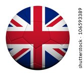Great Britain Flag Pattern 3d rendering of a soccer ball - stock photo