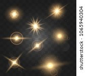set shining star particles and... | Shutterstock .eps vector #1065940304