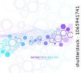 scientific molecule background... | Shutterstock .eps vector #1065941741