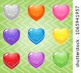 sweet candy match3 heart block...   Shutterstock .eps vector #1065941957